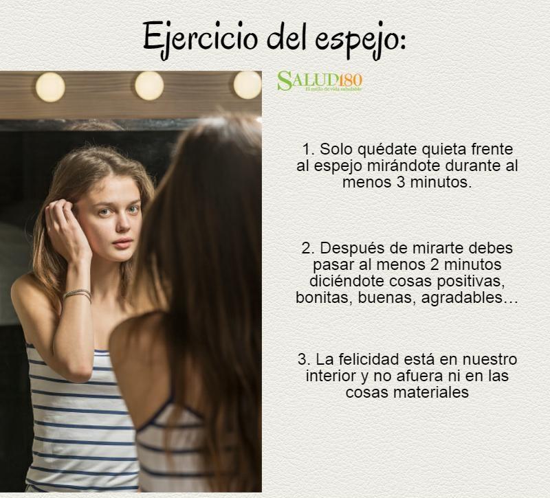 5 cosas que debes decirte cuando te miras al espejo salud180 for Espejo que no invierte la imagen