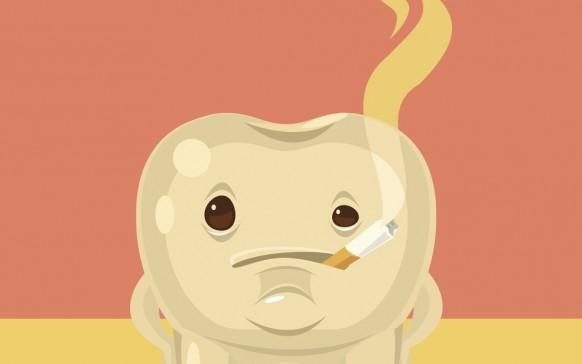 Cómo blanquear los dientes manchados por nicotina
