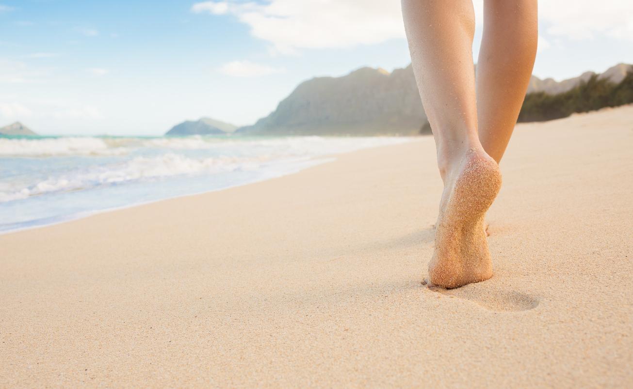 Cómo curar ampollas por arena caliente