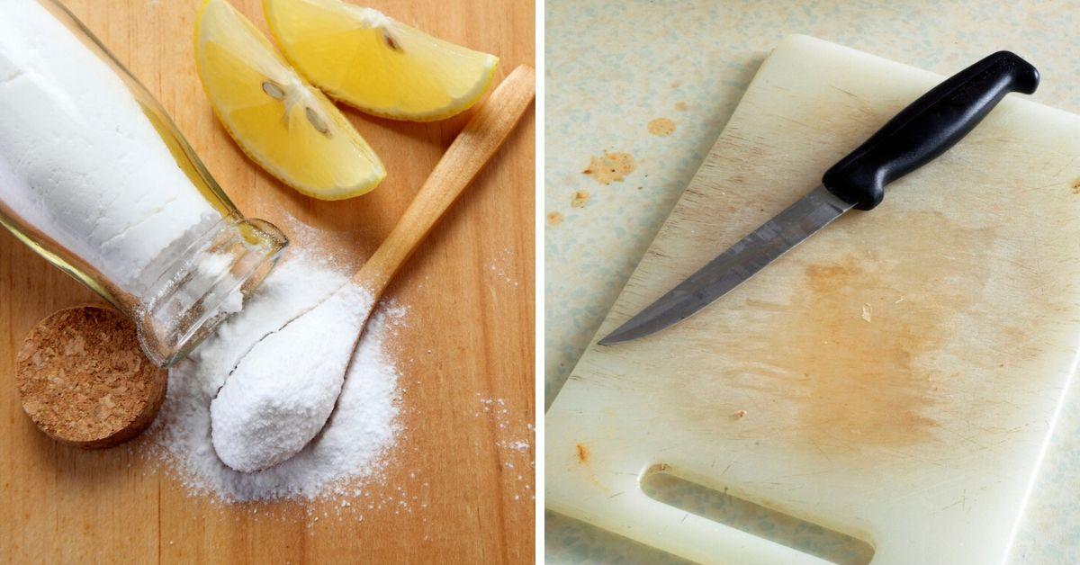 cómo limpiar tabla para cortar de madera o plástico
