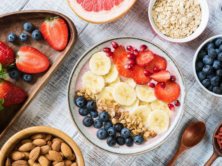 Desayuno para bajar de peso en un messenger