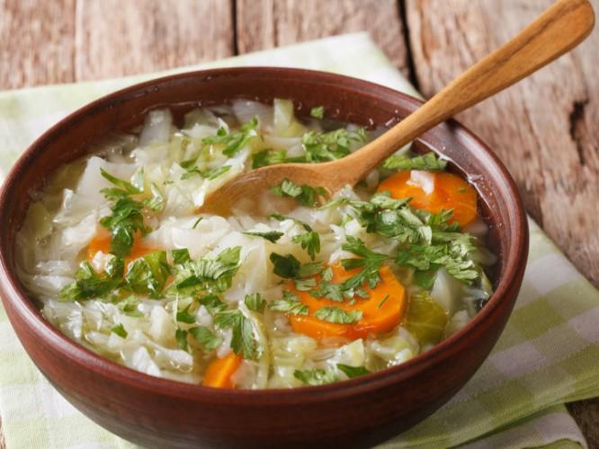 Receta de sopa de pérdida de peso de dieta de 7 días