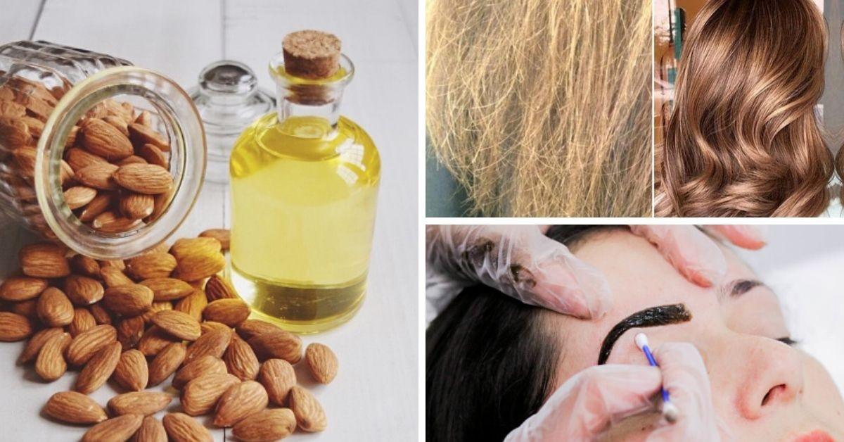 cómo usar el aceite de almendras en el pelo y la cara. Foto Getty