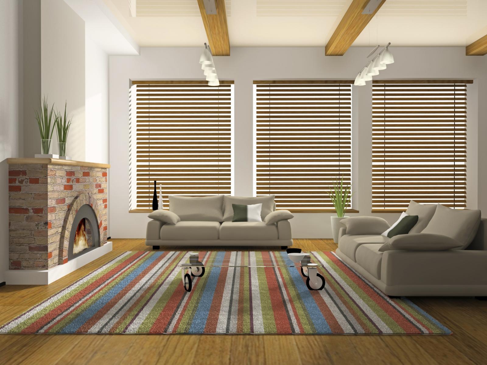Persianas imagui for Family room area rug ideas